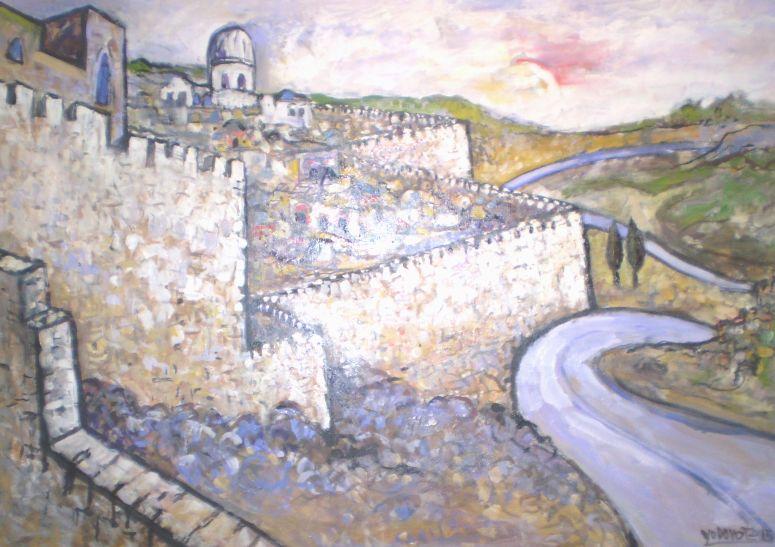 Murallas de Jerusalen óleo 130x 90cjm..jpg